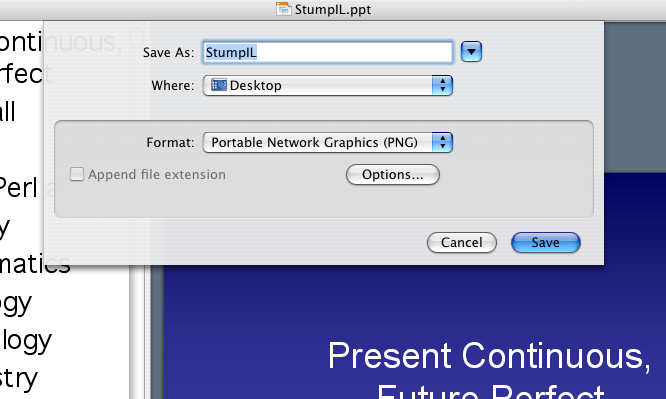 Saving PowerPoint slides as PNG files